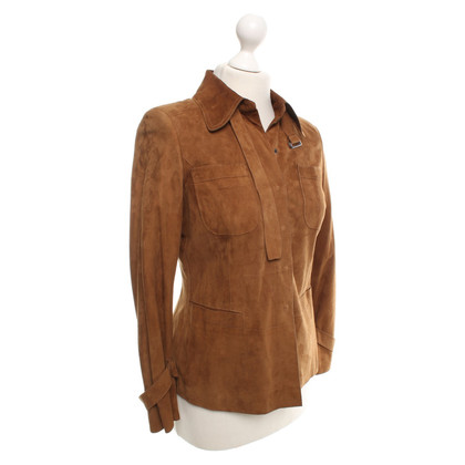 Strenesse Lamb Leather Jacket in Bruin