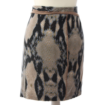 Just Cavalli Reptile-print skirt