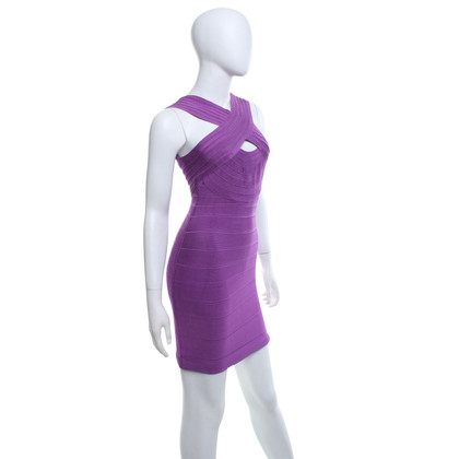 Hervé Léger Dress in purple