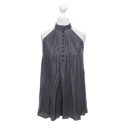 Balenciaga Top in seta grigio