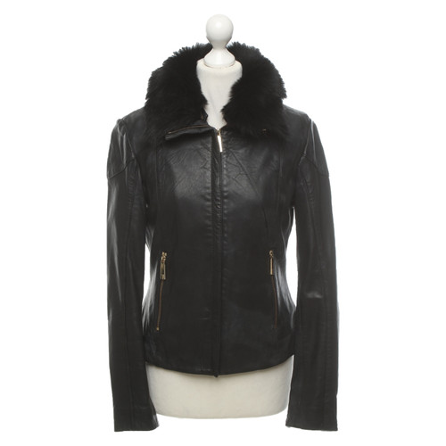 775bc4e356e3 Ted Baker Jacket Coat Leather in Black - Second Hand Ted Baker ...