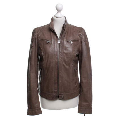 Oakwood Leather Jacket in Taupe