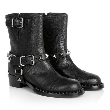 Miu Miu Black leather boot