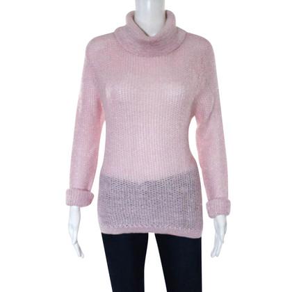 Diane von Furstenberg Sweater in pink with silver threads
