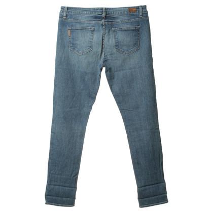 Paige Jeans Boyfriend-Jeans in Hellblau