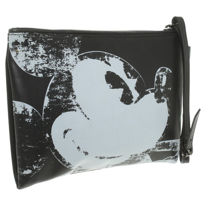 Iceberg clutch with Mickey Mouse print