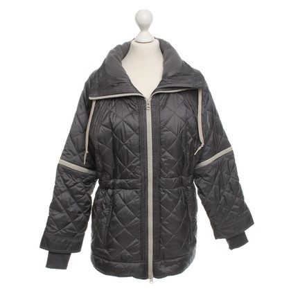 Stella McCartney for Adidas Length quilted coat in gray