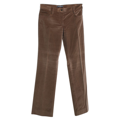 Dolce & Gabbana trousers in brown