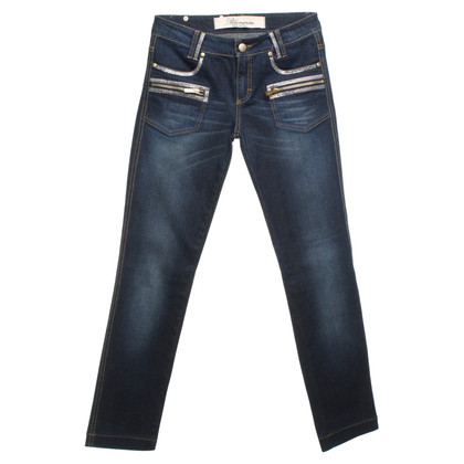 Blumarine Jeans with gemstones in blue