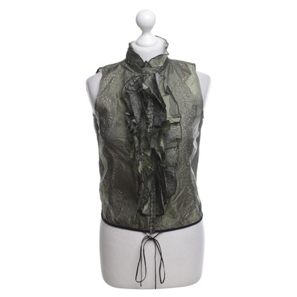 Dries van Noten Vest with effect yarn