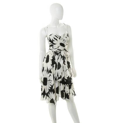 Blumarine Fiore vestito in bianco e nero