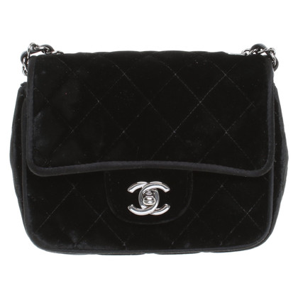 "Chanel Velvet ""Classic Flap Bag Mini Square"""