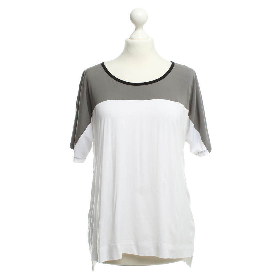 James Perse T-shirt in grigio / bianco