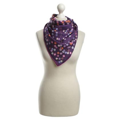 Hermès Seidentuch in Violett