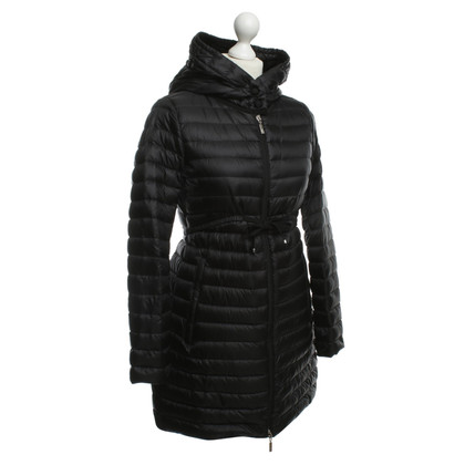 Moncler Long Quilted Jacket in black