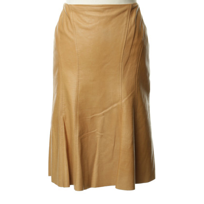 Ralph Lauren Leather skirt in Brown