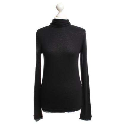 Comptoir des Cotonniers Fine knit sweater in dark blue