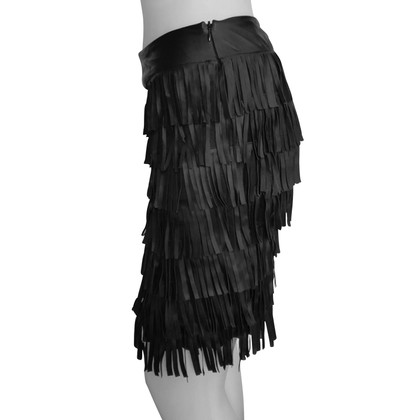Hôtel Particulier skirt with leather fringes