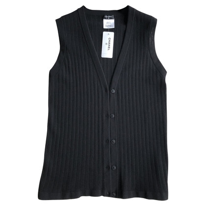Chanel Gilet tricoté en noir