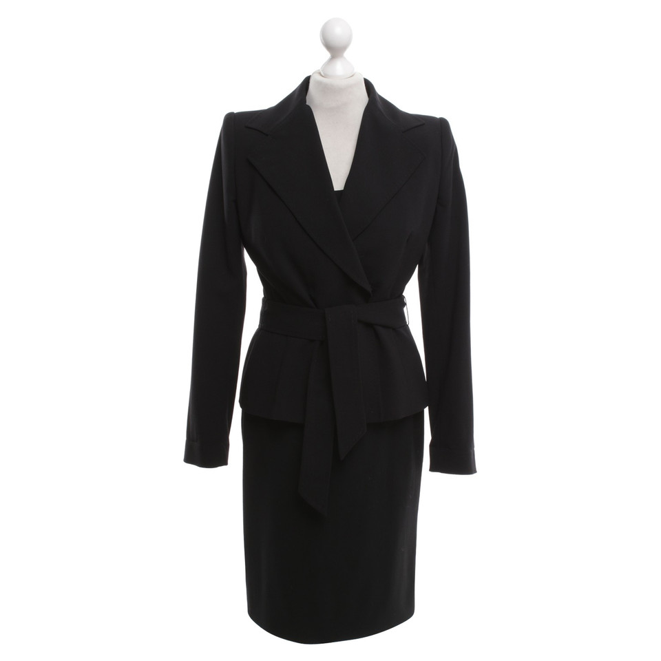 dolce gabbana kleid mit blazer in schwarz second hand. Black Bedroom Furniture Sets. Home Design Ideas