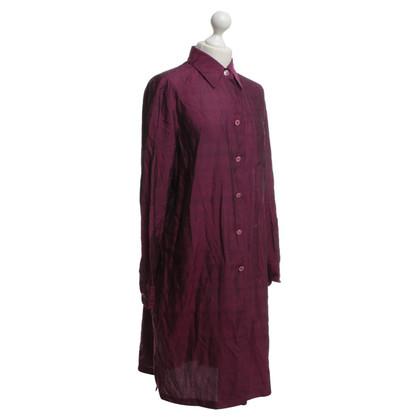 Max Mara Shirt jurk in fuchsia