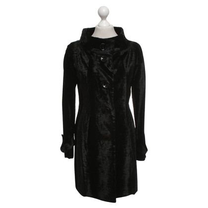 Liu Jo Velvet coat in black