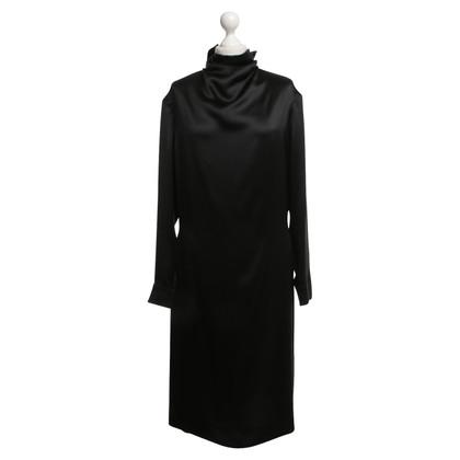 Yves Saint Laurent Seidenkleid in Schwarz
