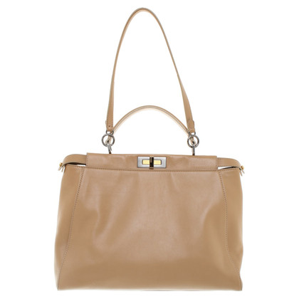 "Fendi ""Peekaboo"" handbag in brown"