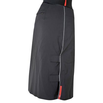 Prada black winter skirt