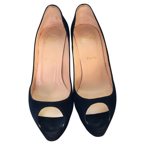 premium selection 2f680 9a54d Christian Louboutin Pumps/Peeptoes Suede in Black - Second ...