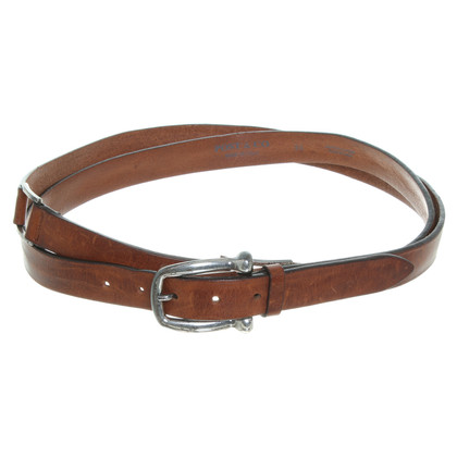 Post & Co Wikkel riem in Brown