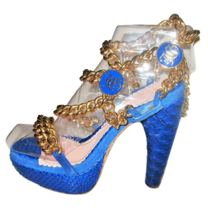 John Galliano Sandalen Python Leather