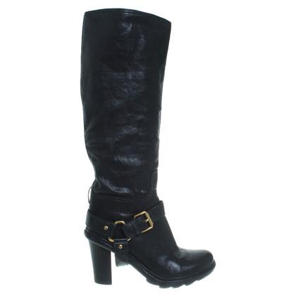 Prada Black leather boot