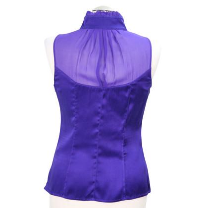 Karen Millen Silk top in blue