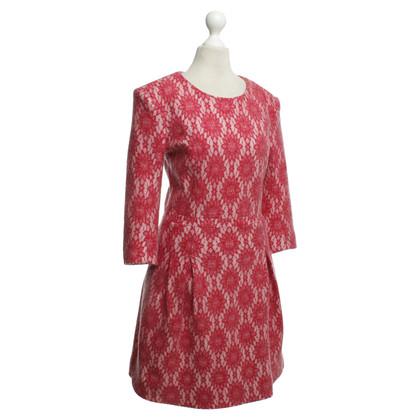 Maje Dress with lace trim