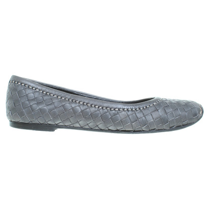 Bottega Veneta Ballerinas with Entrelac pattern