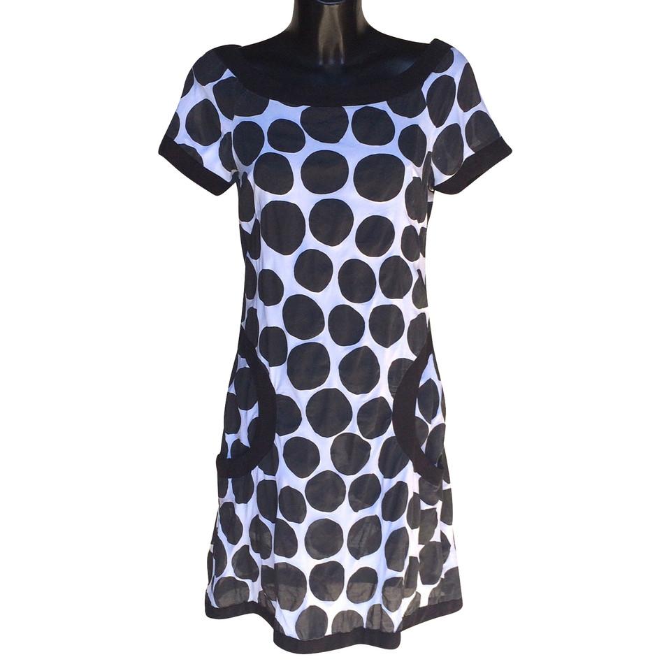 Mariella Burani Robe en noir et blanc