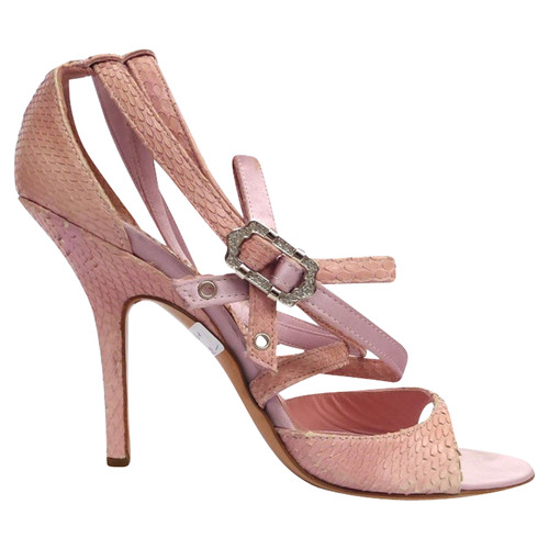 20e72af23a4 Christian Dior Strappy sandals in pink - Second Hand Christian Dior ...