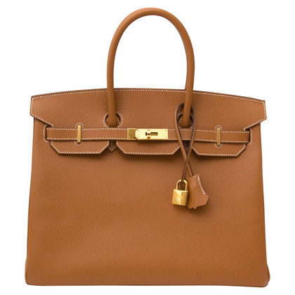 "Hermès ""Birkin Bag 35 Cuir Courchevel Gold GHW"""