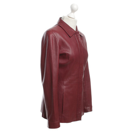 Hugo Boss Leather jacket in red