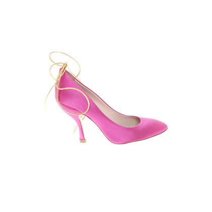 Miu Miu Satin-Pumps in Pink