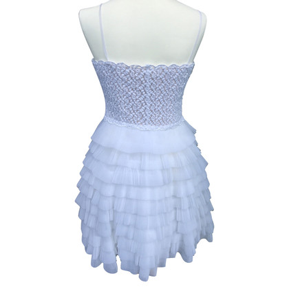 Red Valentino Witte tiered organza band jurk