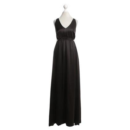 René Lezard zijden jurk in Bruin