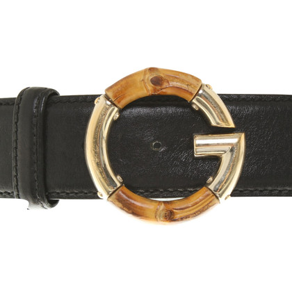 Gucci Leather belt with application