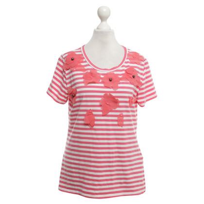Max Mara T-Shirt in Rot/Weiß