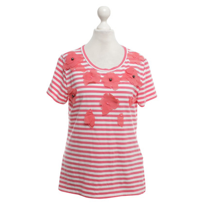 Max Mara T-shirt in rosso / bianco