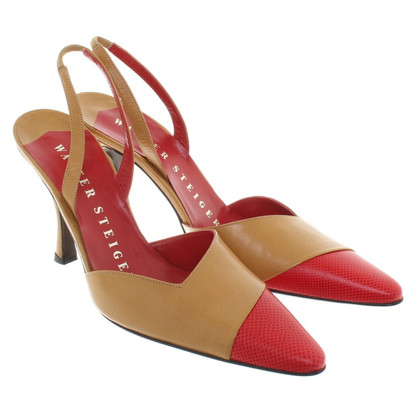 Walter Steiger pumps in ocher / red