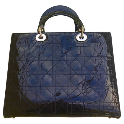 "Christian Dior ""Large Lady Dior"" in patent leather"