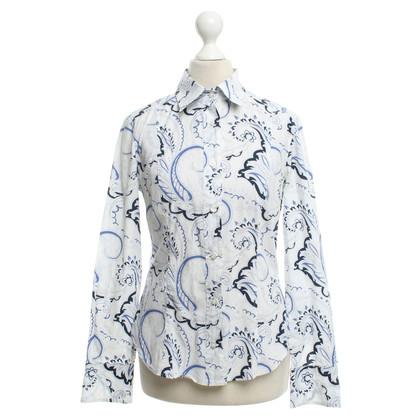 Etro Camicia in Bianco / Blu