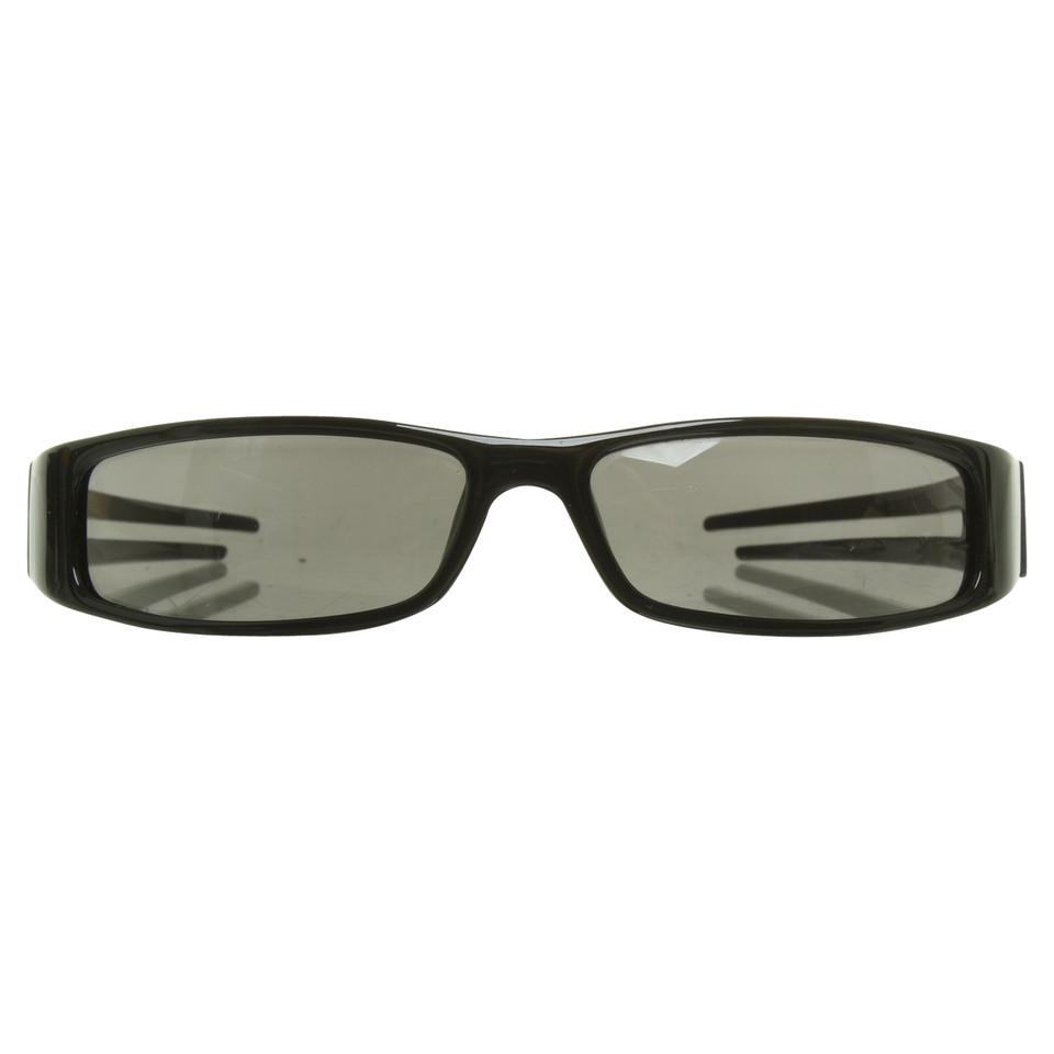 christian dior schmale sonnenbrille in schwarz second. Black Bedroom Furniture Sets. Home Design Ideas